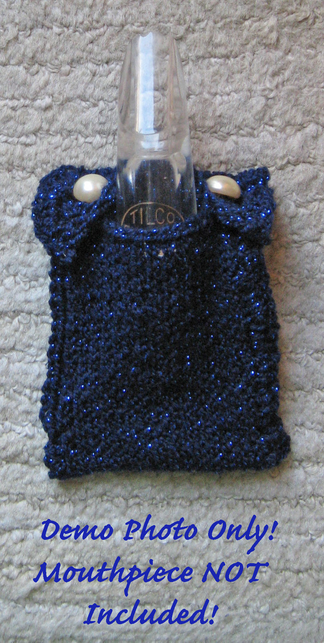 Primary image for Clarinet Mouthpiece Pouch/Handcrafted/OOAK/Blue/For Bb Clarinets