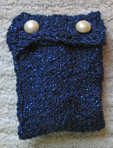 Clarinet Mouthpiece Pouch/Handcrafted/OOAK/Blue/For Bb Clarinets image 2