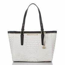 NEW! Authentic! BRAHMIN Medium Arno Sugar Tri-Textured Tote Bag-White - $329.07
