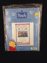 Counted Cross Stitch Kit Pooh Friends Too Much Honey Sampler Leisure Arts 34004 - $13.97