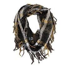 New Women Fashion Plaids Infinity Warm Winter Tassel Knit Scarf (Brown) - £8.44 GBP