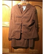 Kari New York Woman Size 12 2pc Top And Skirt  Suit Set Brown - $9.87