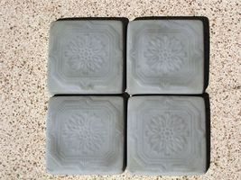 "Victorian 5""x5"" Tile Molds (12) Make Hundreds of Cement Plaster Floor Wall Tiles image 5"