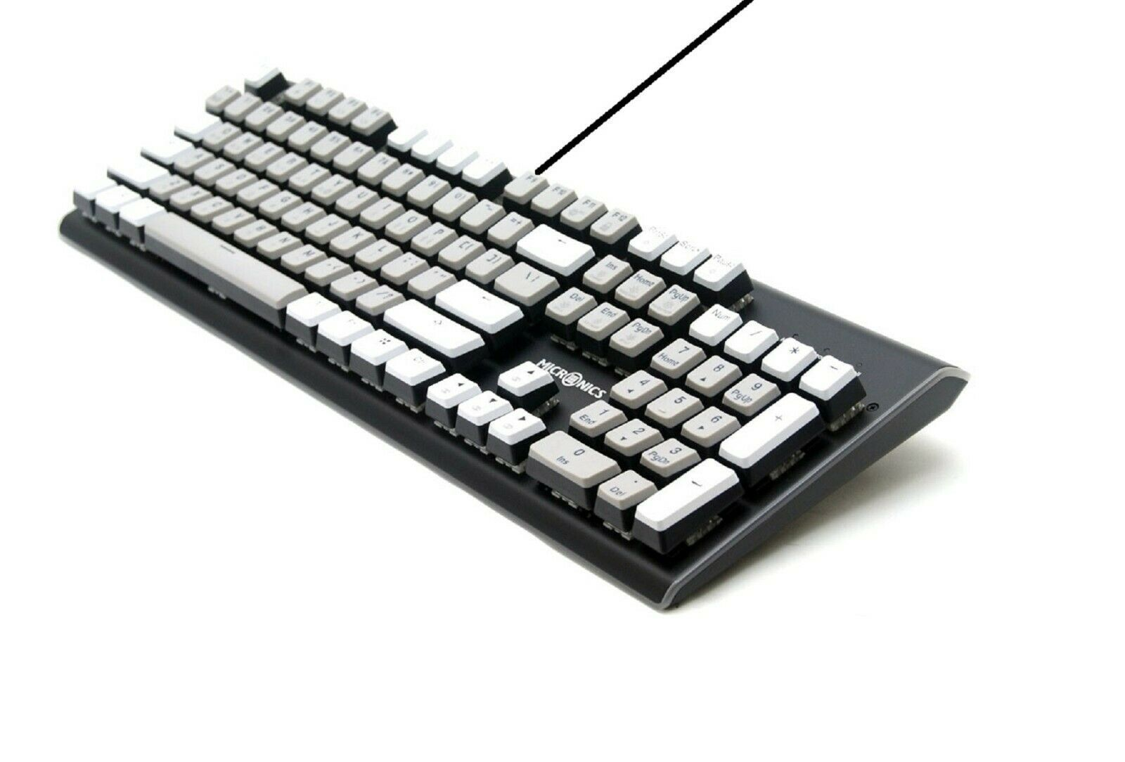 Micronics K735 Mechanical Gaming Keyboard Black Body (Kailh Box Switch White)