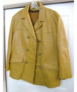 Schott Bros Inc Women's Cabretta Leather Car Coat Jacket Mustard S / M V... - $239.95