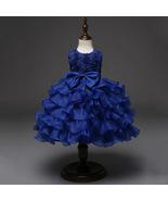 Toddler Infant Ball Gown Dress Royal blue dress for Baby Girl Birthday D... - £45.81 GBP