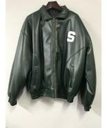 Mens Michigan State Spartans Magic Johnson # 33 Faux Jacket AUTOGRAPHED ... - $44.55