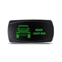 Rocker Switch Jeep Wrangler JK Roof Light Bar Symbol - Horizontal - Green LED - $16.44