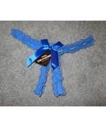 WOMENS THONG PANTIES UNDERWARE BLUE LACE & RIBBON SMALL #701 - $6.99