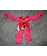 WOMENS THONG PANTIES UNDERWARE PINK LACE & RIBBON SMALL #992 - $6.99