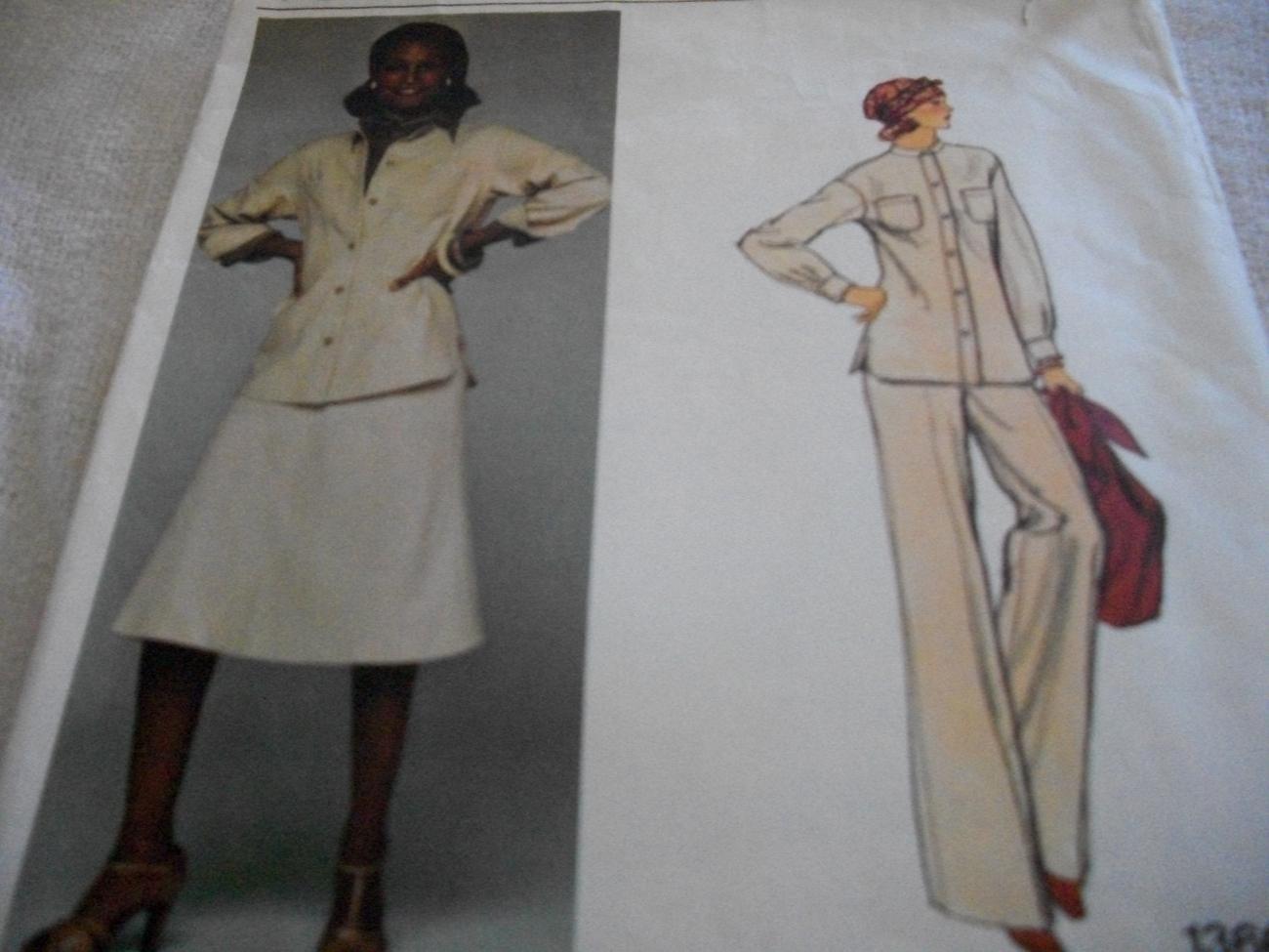 Misses' Designer Jacket, Skirt, Pants & Shirt Pattern Vogue 1366