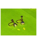 Vintage Aurora Borealis Screw On Earrings - $14.97