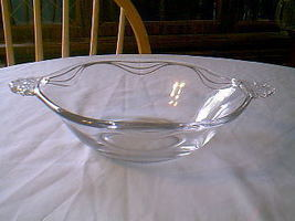 FOSTORIA CORONET SERVING BOWL - $8.91