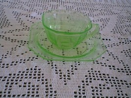 GREEN PRINCESS CUP AND SAUCER - $14.85