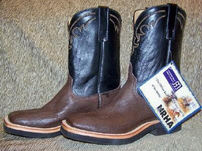 NEW IN BOX ANDERSON BEAN BROWN SQUARE TOE SMOOTH OSTRICH COWBOY BOOTS 10-1/2D
