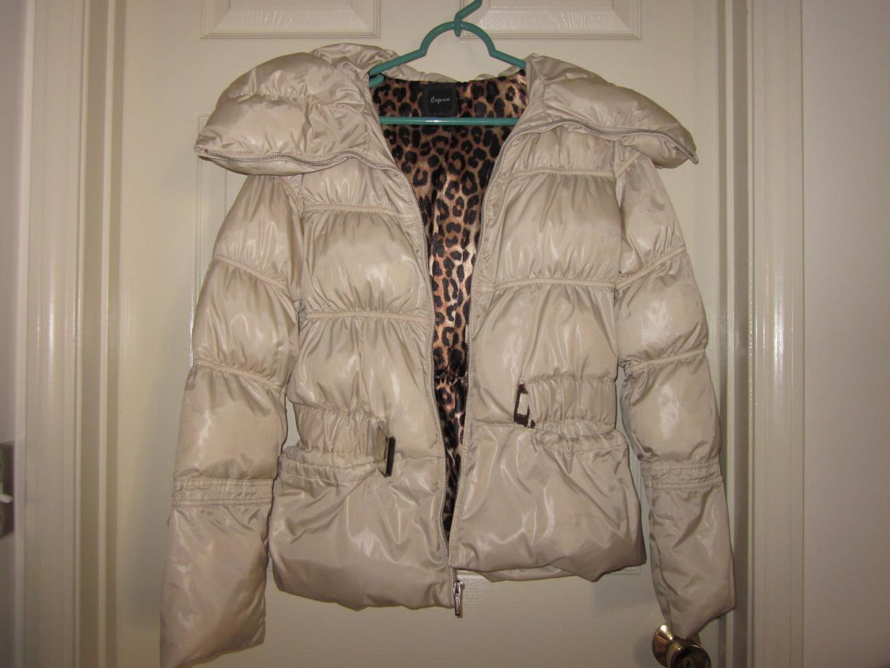 Express cream puffer jacket - small