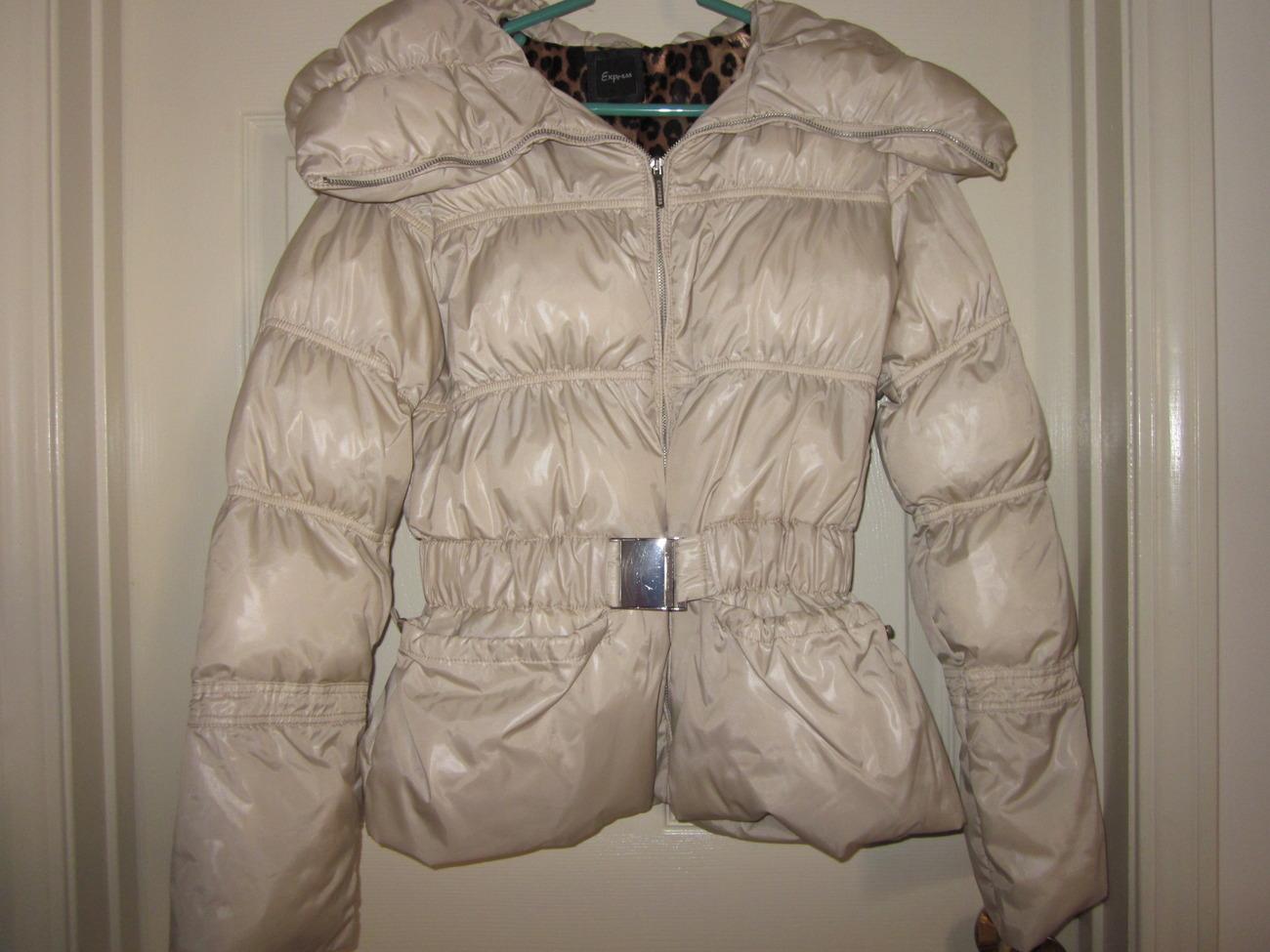 Express cream puffer jacket - small image 2