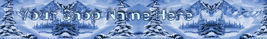 Web Banner Cold Winter Mountains Blue Custom Created 111a - $7.00