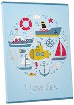 """Pingo World 0722Q9TKG2S """"I Love Sea Ships and Boats Children Kids"""" Galle... - $43.51"""