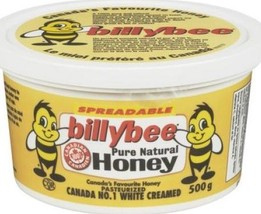 Billy Bee Creamed Natural Spreadable Honey 4 x 500g Canadian - $79.99