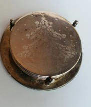 """Christmas Coaster Set Silver Plated in Stand 3 5/8 """"Noel"""" Silver plated ... - $14.45"""