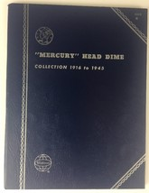 Mercury Head Dime Coin Folder Collection 1916-1945 Whitman #9014 - $7.11