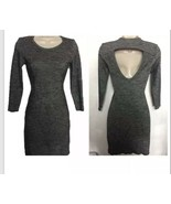 Wilfred Bodycon Dress Size Small Wool Cut Out Back Long Sleeves Heathere... - $25.73