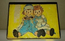 "VINTAGE 1972 RAGGITY ANN & ANDY JEWLERY MUSIC BOX MERILL CO "" LOVE STORY... - $14.74"