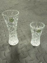 """Authentic New Lenox Fine Crystal Star Vase set 6"""" and 4"""" - $14.84"""