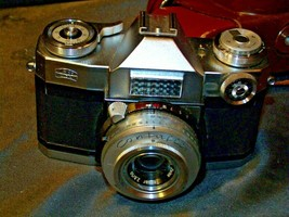 Zeiss Ikon Contaflex Super Camera with hard leather Case AA-192011 Vintage image 2