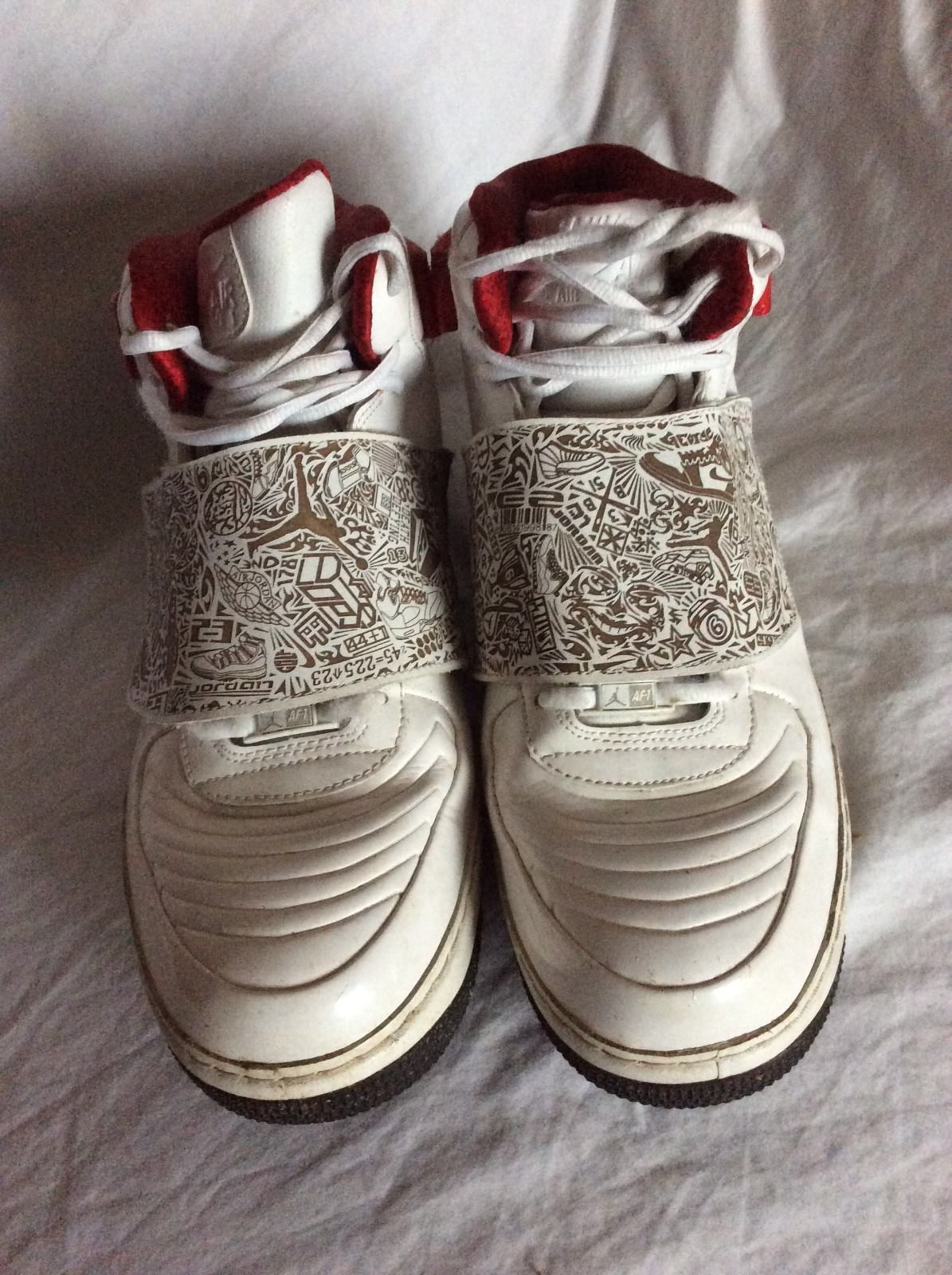 a5e682ff156dd9 Nike Air Jordan Fusion AJF 20 White Red Black Shoes Sneakers 331823 101 U.S  13