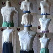 Rustic Wedding Lavender Maxi Chiffon Skirt Lace Top 2-Piece Bridesmaid Dresses image 6