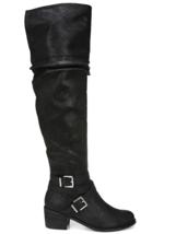 Women's Carlos by Carlos Santana Jada Black High Shaft Slouch Boots Size 5M - $68.59