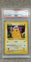 Pokemon Red Cheeks Pikachu 58/102 Shadowless Base Set PSA 10 1999 Pokemo... - $119.95