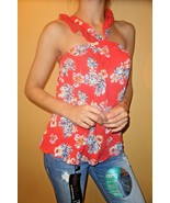 NWT Sophie Rue Red Floral Sleeveless Tank Top size XS - $19.79