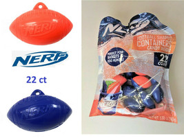 Hasbro Nerf Football Shaped Containers + Candy Inside  22 count - $9.89