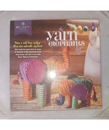 Craft Tastic Yarn Elephants Kit Kids Assemble Cardboard Wrap Them Up NEW 8+ - $18.66