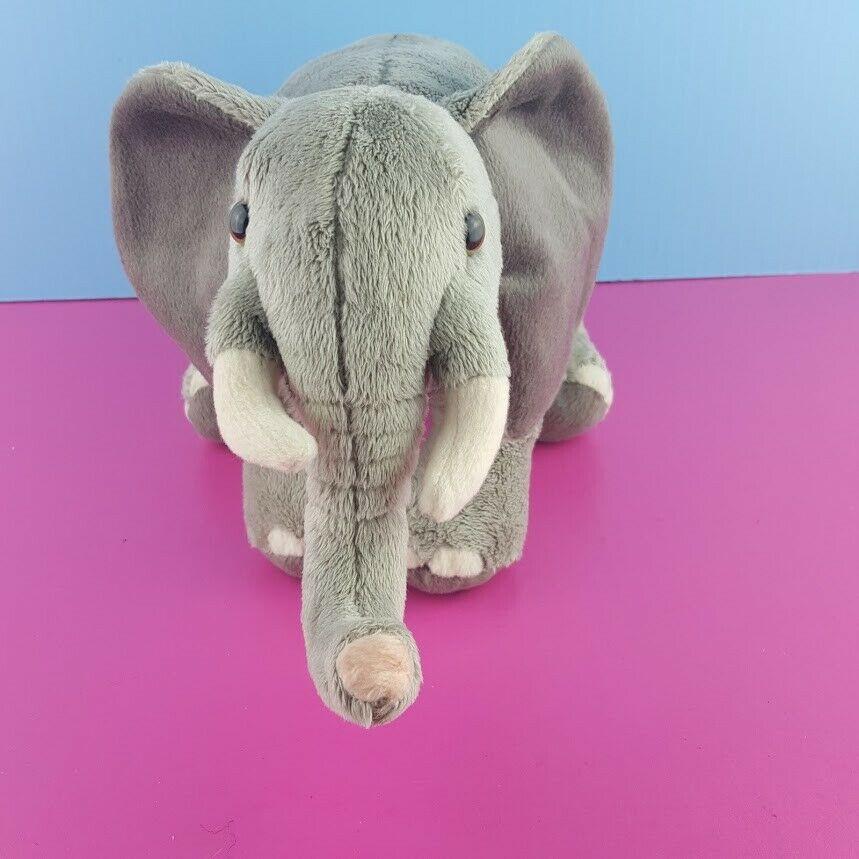 "Disney Worldwide Conservation Plush Elephant Stuffed Animal 12"" African Gray"