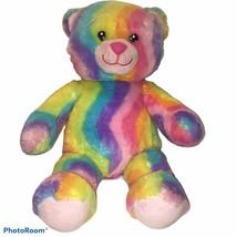 "Build a Bear BABW Rainbow Sherbert Striped Bear Plush 17"" tie dyed retir... - $20.48"