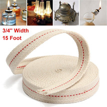 3/4 Inch Flat Cotton Wick 15 Foot Length Wick For Oil Lamps and Lanterns... - $2.99