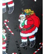 Hallmark Santa Claus Christmas Mens Necktie Novelty Black - $3.50