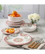 NEW Laurie Gates Brick Floral 12-piece Melamine Dinnerware Set **FREE SH... - $54.49