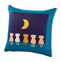 "Decorative Pillow Chair Pads Cushion Quilt, 15.75"" x 15.75"", Lake blue, cat - $27.23"