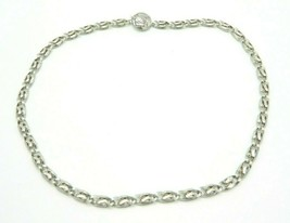 Pcraft Embossed Thick Chain Link Silver Tone Necklace Vintage 1960s - $21.03