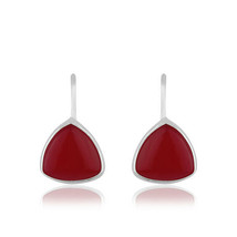 Pink Chalcedony Gemstone 925 Sterling Silver Fashion Drop Earring Jewelry - $17.82