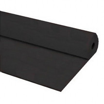 "40""x150 ft Heavy Duty Banquet Roll Plastic Table Cloth - Black - $21.77"