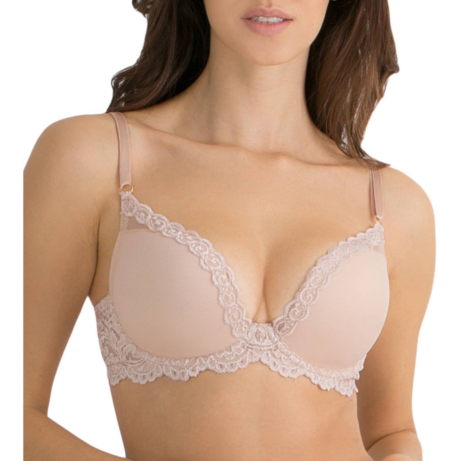 d4774802f8 S l1600. S l1600. Previous. Smart   Sexy Light Lined Signature Lace   Mesh  Bra Buff Color Size 38C NEW