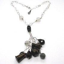 Silver 925 Necklace, Onyx, Mocha, Coffee Pot, Teapot, Pendants, Quartz R... - $208.86