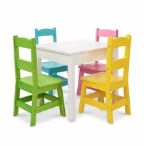 Melissa & Doug Kids Furniture, Wooden Table & 4 Chairs - Pastel - $270.70