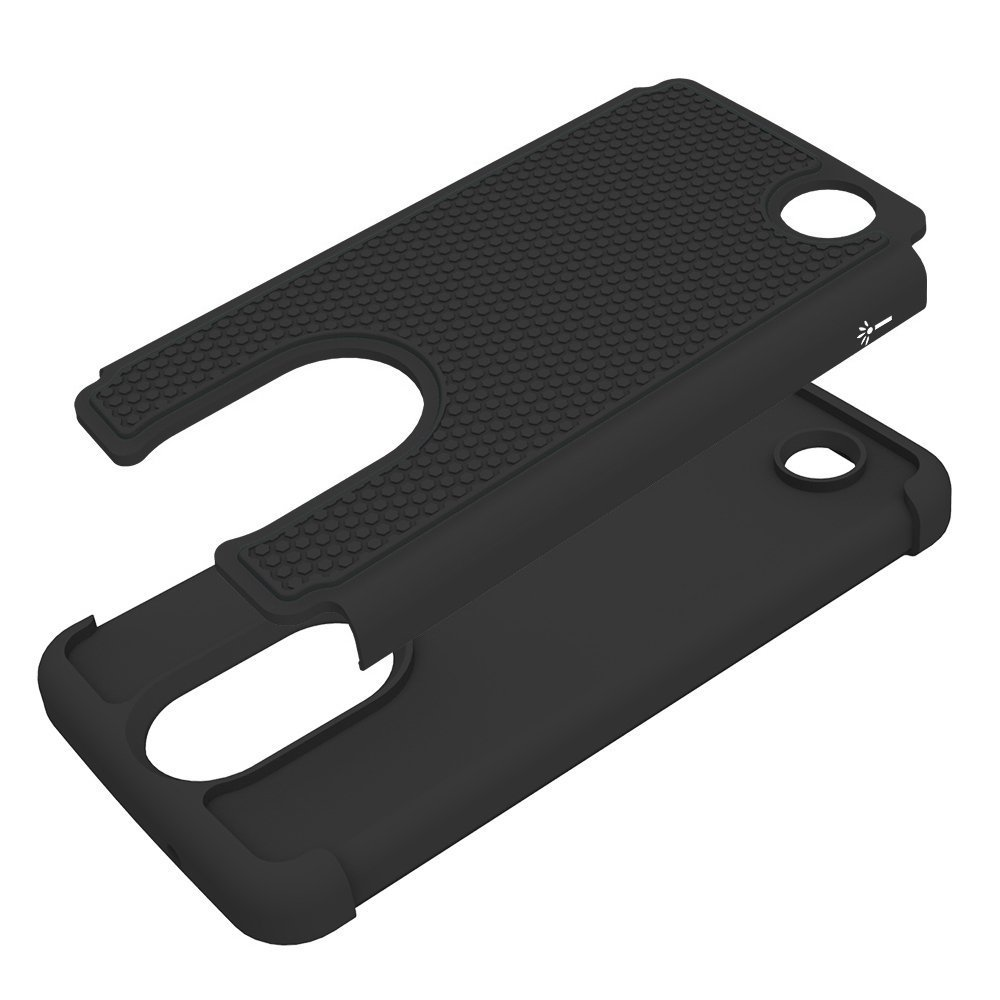 Drop Protection Hybrid Case Cover for LG Fortune / V1 K4 2017 - Black